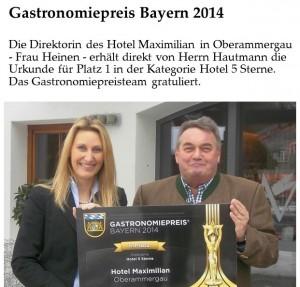 Gastronomiepreis 2014